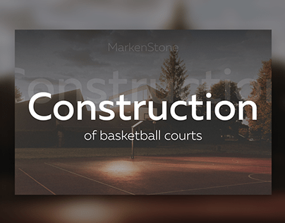 Construction company of basketball courts