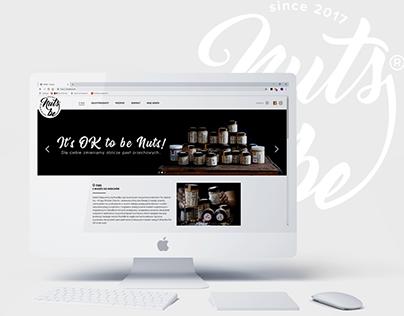 web design for NutsBe