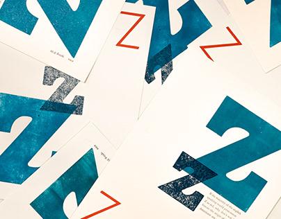 Letterpress Z Poster