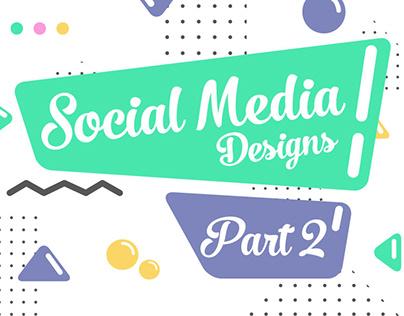 Social media designs (Part 2)