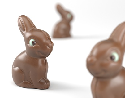 CG Food - Chocolate Bunny