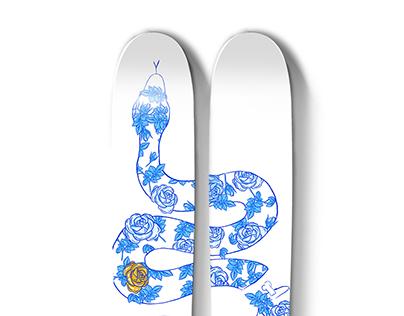 Parlor Snake Ski Top Sheet