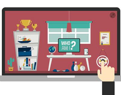 Illustrated Resume Interactive PDF