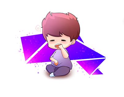 chibi character illustration