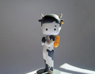 Cow Theme Art Toy