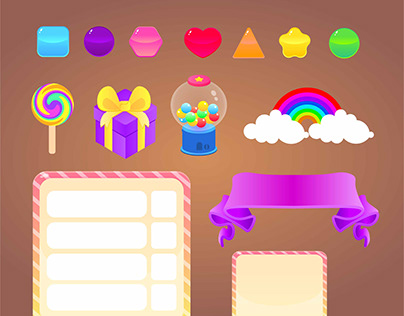 Candy World Game Assets