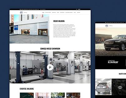 Volvo Valborg - Website UX/UI