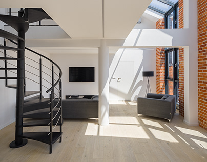 Loft with big windows