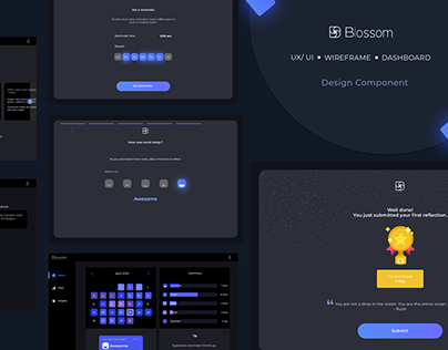 Blossom Dashboard & Mobile Responsive