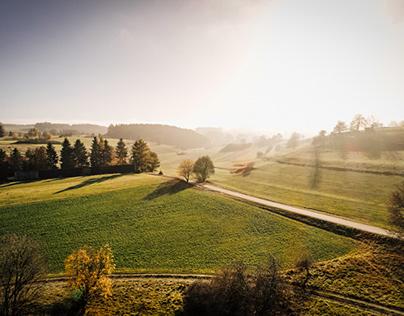 warm afternoon light, Schwäbische Alb, Germany