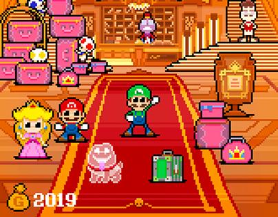 8-bit Luigi's Mansion 3 - Check-in