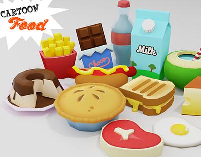 3D Models for games: Cartoon Foods