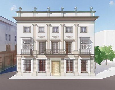 Building renovation in Jerez