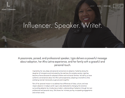 Professional Public Speaker Website