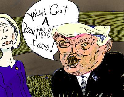 Donald Trump and Carly Fiorina