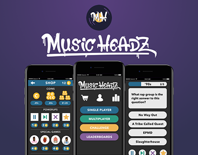 Music Headz Mobile Music Trivia App (Work in Progress)