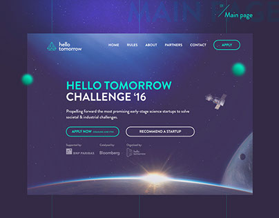 Hello tomorrow website - science and technologies
