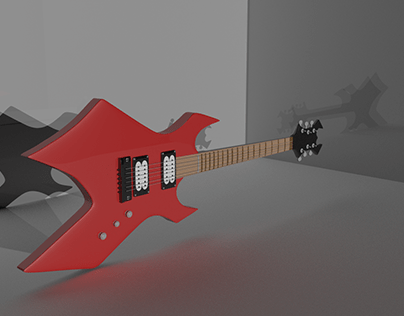 Eletric Guitar 3D model in maya