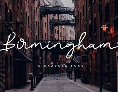 Birmingham Signature Font Free Demo