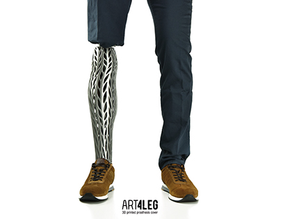 ORGANIC Customized 3D Printed prosthetic leg cover