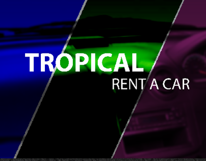 cover and social media ads for rent car company