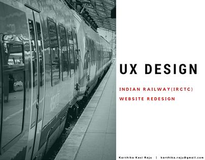 UX DESIGN - Indian Railways Website Redesign