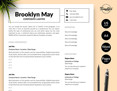 "Resume Template ""Brooklyn May"""
