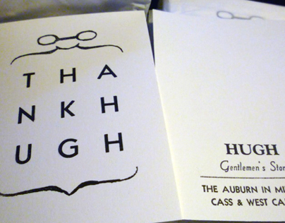 """Thank Hugh"" Cards"