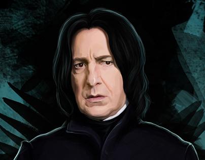 Severus Snape / Digital Painting / Alan Rickman