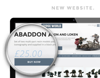 FORGE WORLD   website & logo
