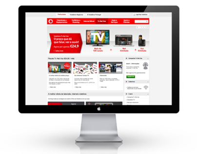 Vodafone - Tv Net Voz Website Page Update