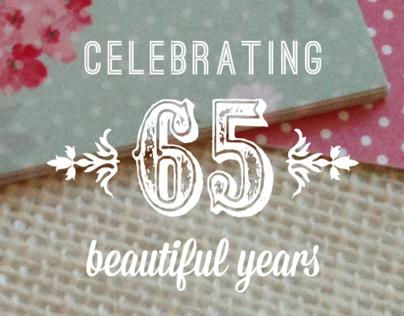 65th birthday invitation | Penelope List