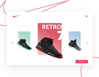 Nike Webpage Concept