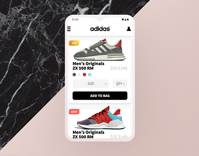 Adidas Mobile web Redesign