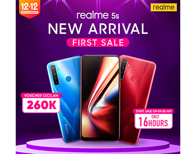 Realme 5s New Arrival 12.12 Pesta Kredit