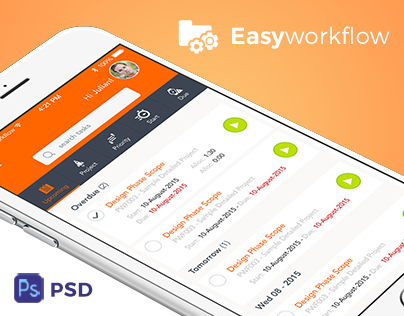 Easyworkflow Free Mobile App PSD