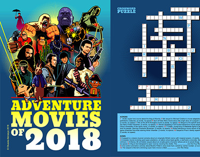 2018 Movies- Illustrated Crossword Puzzle