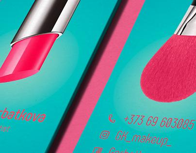 Makeup artist's business card