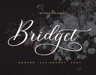 Font Bridget Script