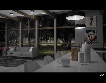 Kitchen surrounding nature - interior design