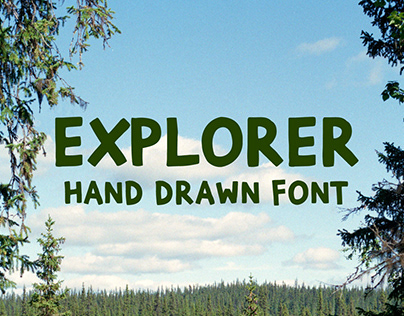 Explorer Extended Brush Font