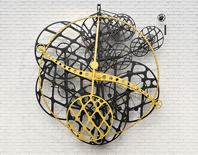 3D Renderings of Schlumpf Time Machine No. 4 Wall Clock