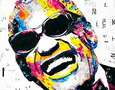 Portrait of Ray Charles