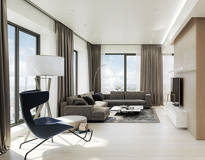 Modern apartment design, Moscow