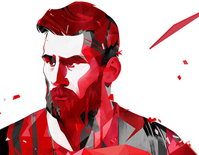 Messi key visual for Alfa Bank