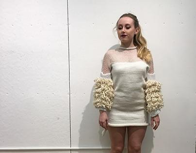 Machine Knitting Final- Textured Mini Dress