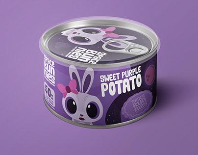 Space Bunnies Low Sugar Mooncake (Packaging Design)