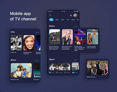 Mobile app of TV channel