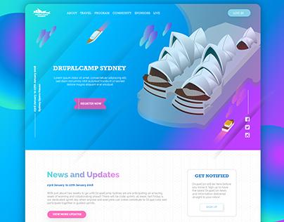 ISOMETRIC DESIGN WEB PAGE