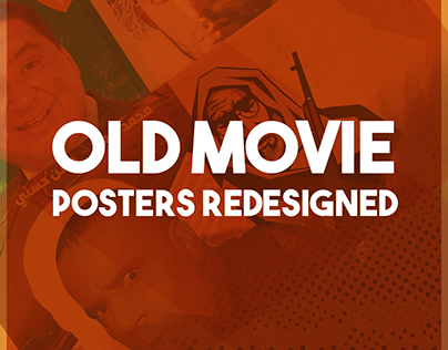 Old movie Posters redesigned with simple logos.
